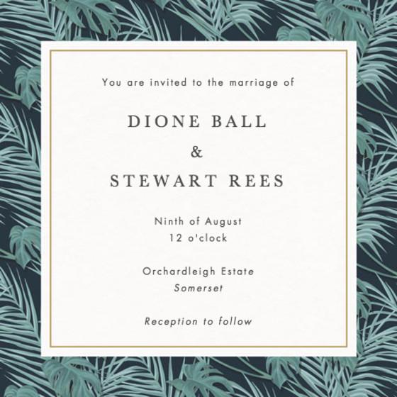 Kun   Personalised Wedding Invitation