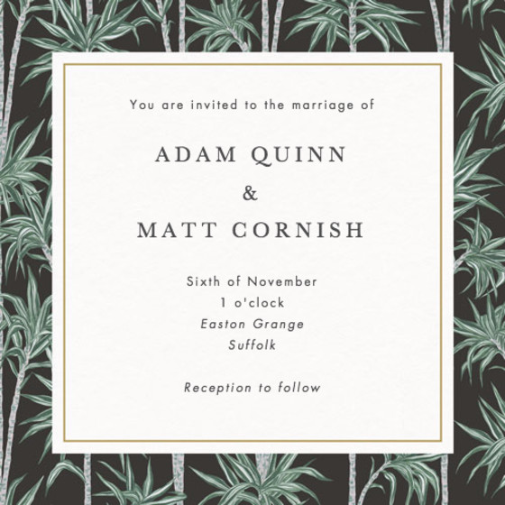 Stan | Personalised Wedding Invitation