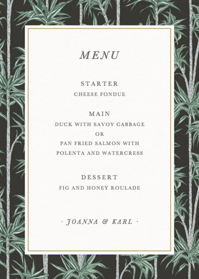 Stan | Personalised Menu