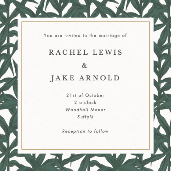 Murphy | Personalised Wedding Invitation