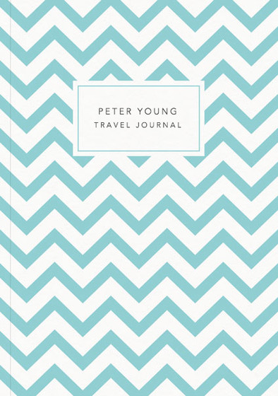 Aqua Chevrons | Personalised Lined Notebook