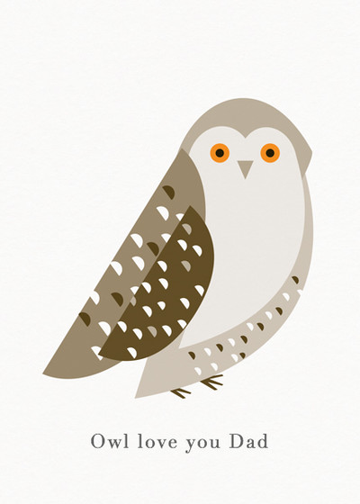 Snowy Owl | Personalised Greeting Card