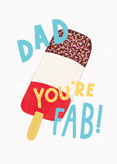 Fab Dad | Personalised Greeting Card