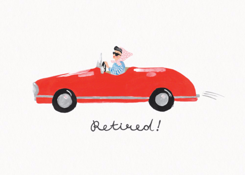 Retired! | Personalised Good Luck Card