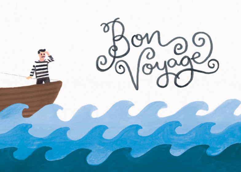 Bon Voyage | Personalised Good Luck Card