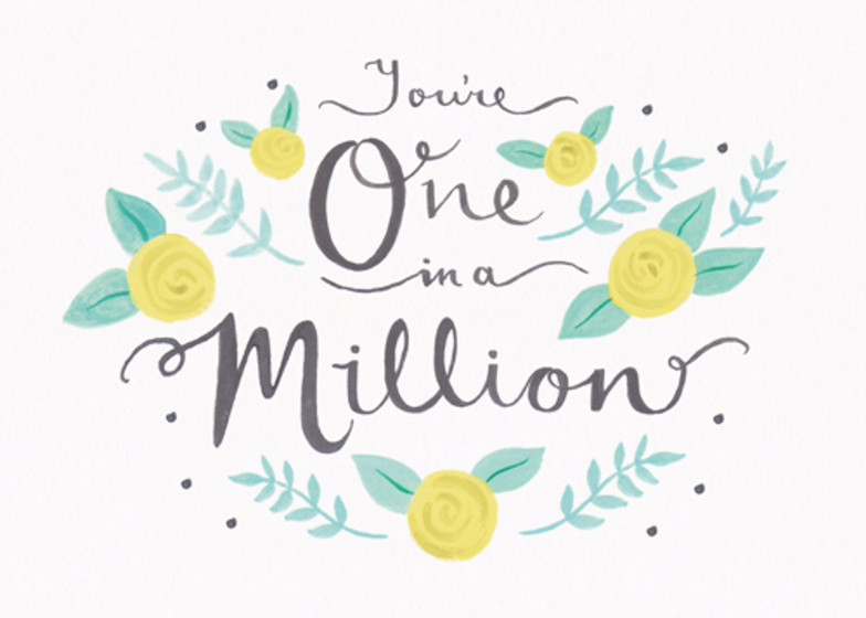 You're One In A Million | Personalised Greeting Card