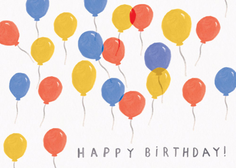 Birthday Balloons | Personalised Birthday Card