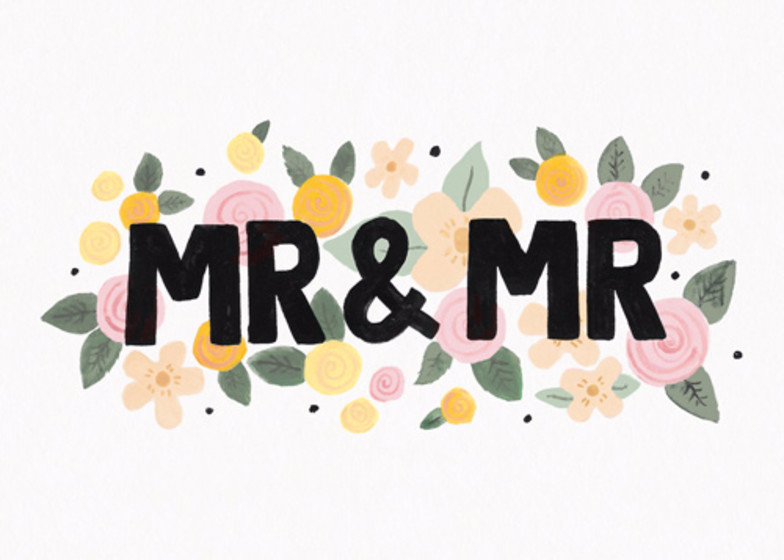 Mr & Mr Floral | Personalised Congratulations Card