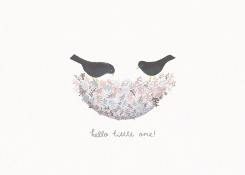 New Baby Birds | Personalised Congratulations Card