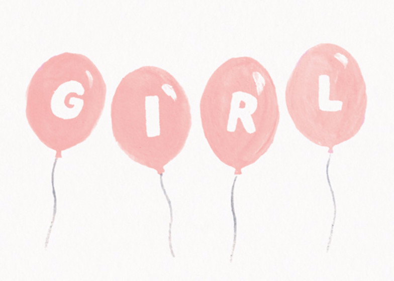 Girl Balloons | Personalised Congratulations Card