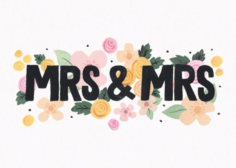 Mrs & Mrs | Personalised Congratulations Card