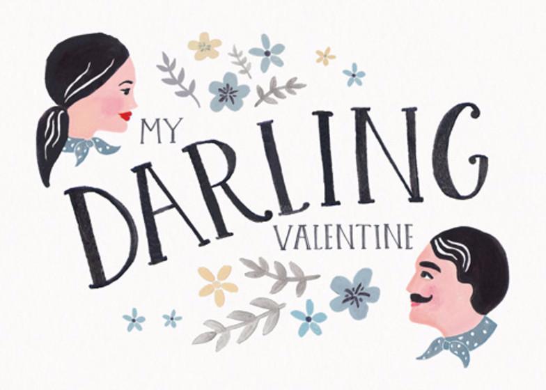 My Darling Valentine | Personalised Greeting Card