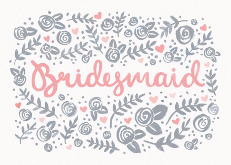 Bridesmaid Floral | Personalised Greeting Card