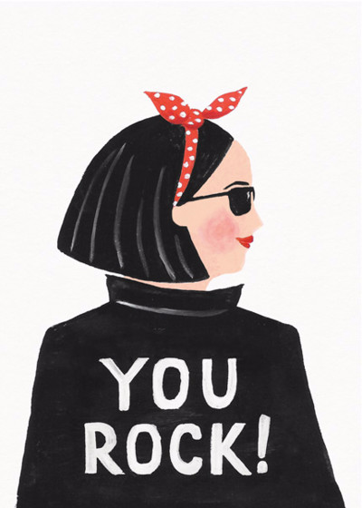 Hey, You Rock | Personalised Congratulations Card