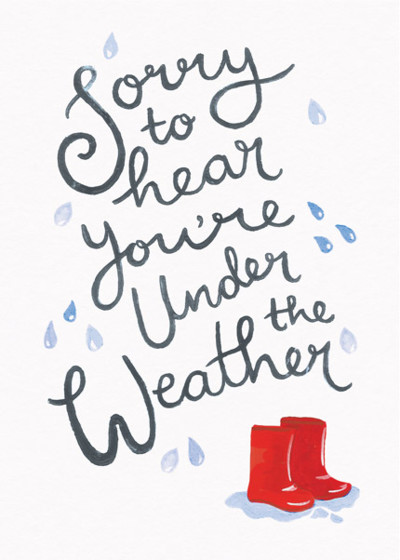 Under The Weather | Personalised Greeting Card