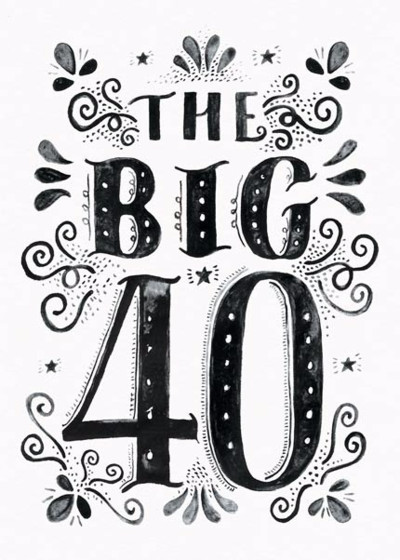 The Big 40 | Personalised Birthday Card