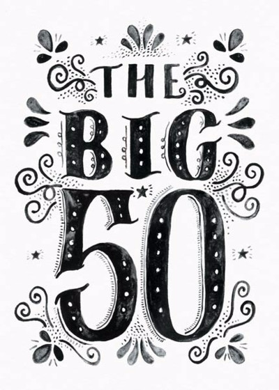 The Big 50 | Personalised Birthday Card