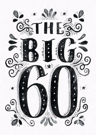 The Big 60 | Personalised Birthday Card