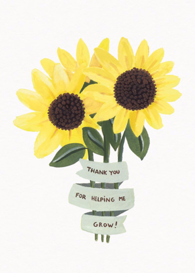 Thank You Sunflower | Personalised Thank You Card