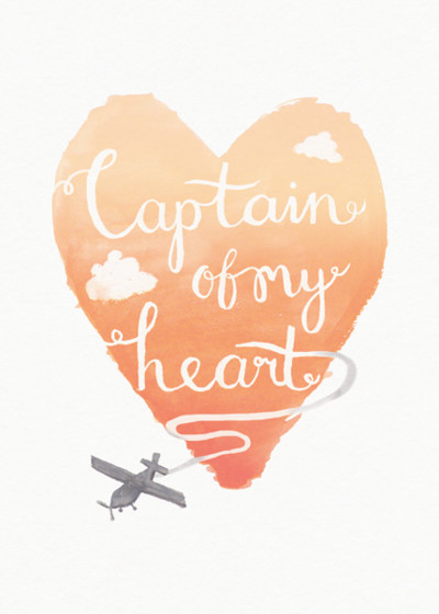 Captain Of My Heart | Personalised Greeting Card