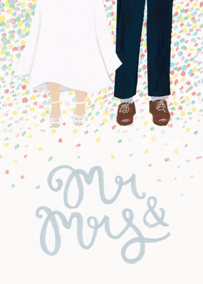 Mr & Mrs Confetti | Personalised Congratulations Card