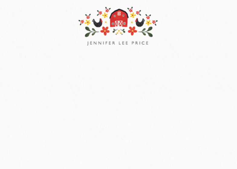Folk Barn | Personalised Stationery Set