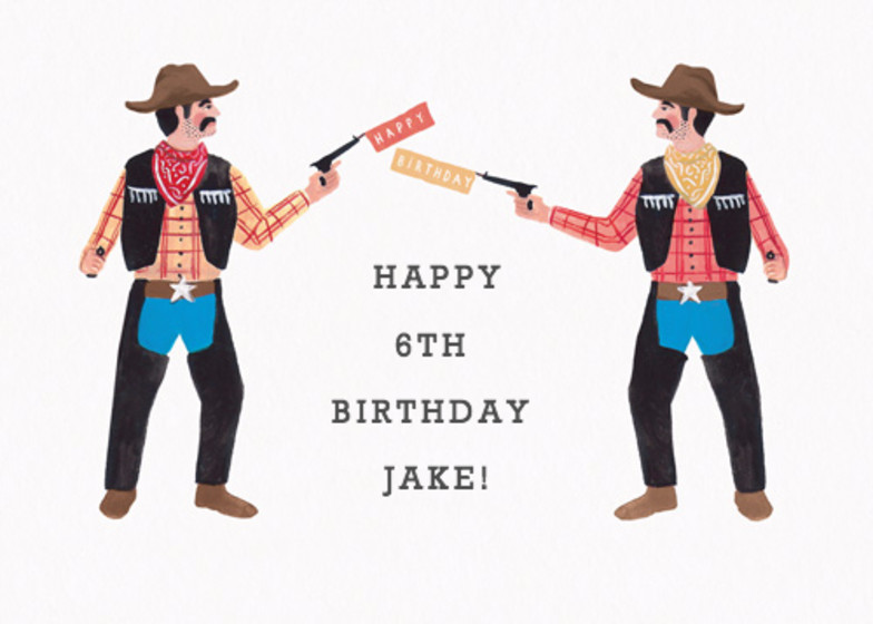 Birthday Cowboys | Personalised Birthday Card