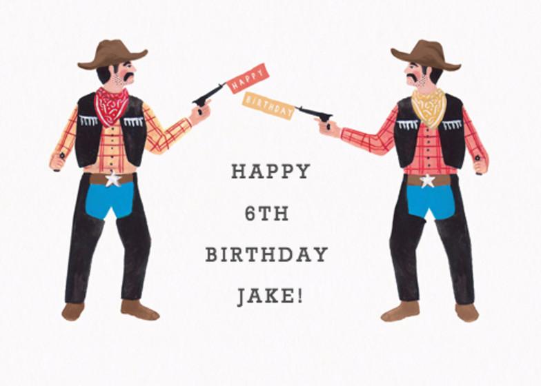 Birthday Cowboys | Personalised Birthday Card