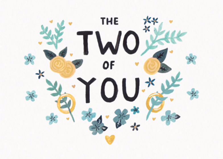 The Two Of You | Personalised Congratulations Card