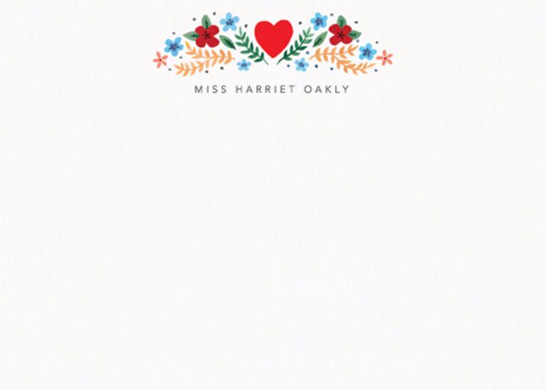 Folk Heart Floral | Personalised Stationery Set