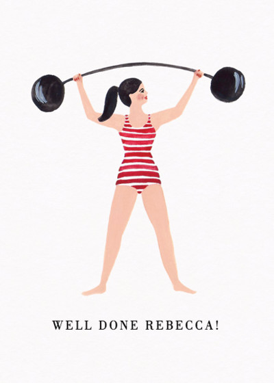 Strong Woman   Personalised Good Luck Card