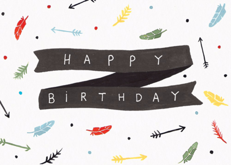 Feathers & Arrows | Personalised Birthday Card