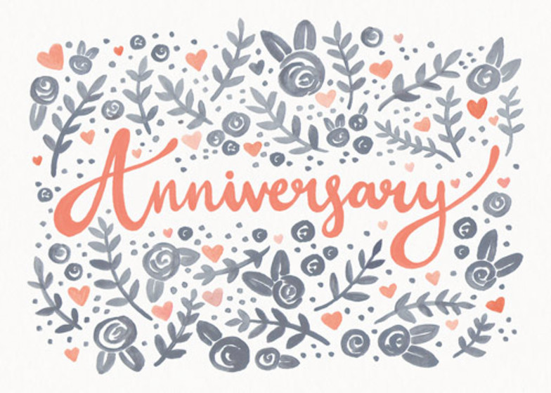 Anniversary Floral | Personalised Greeting Card
