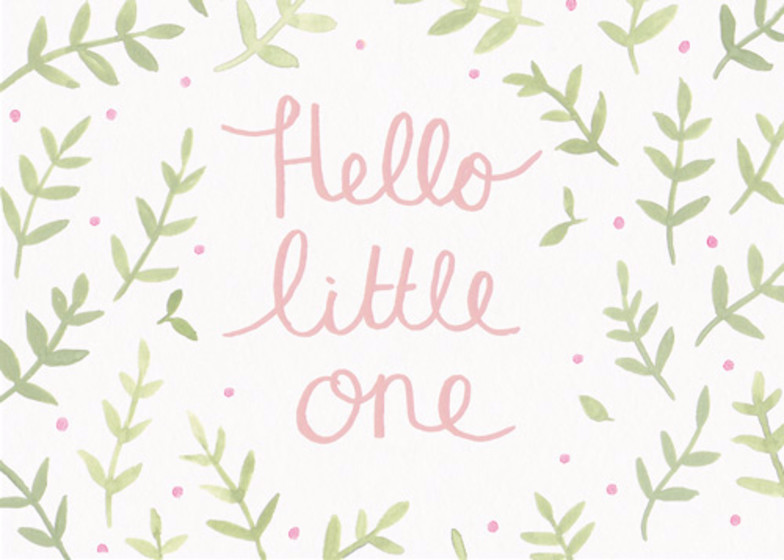 Hello Little One Pink | Personalised Congratulations Card