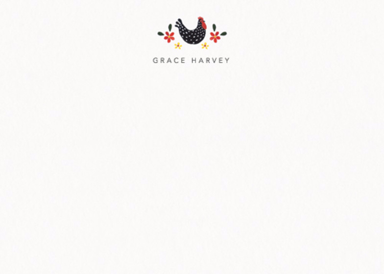 Polka Dot Chicken | Personalised Stationery Set