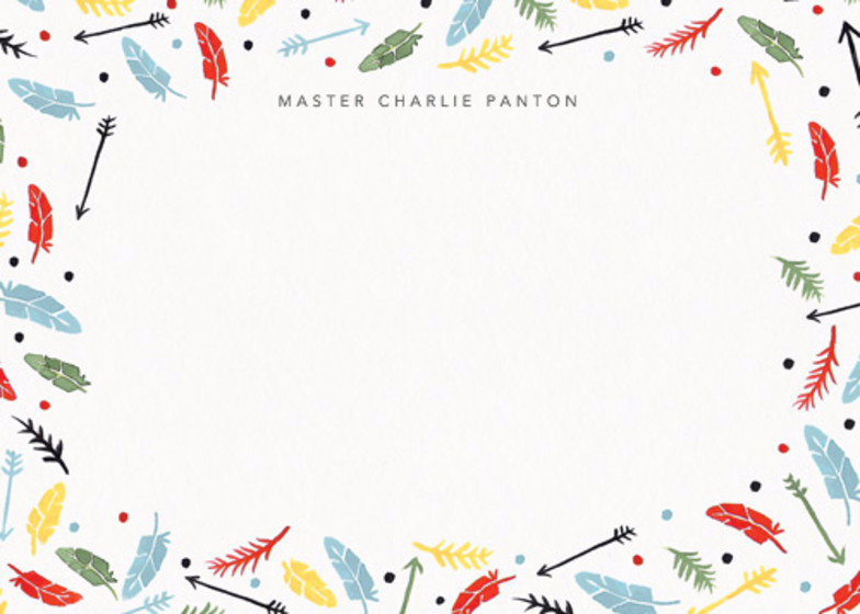 Feathers & Arrows | Personalised Stationery Set