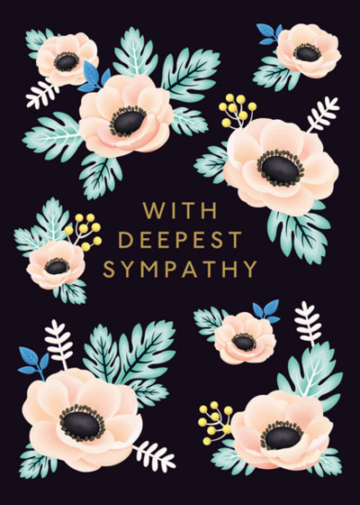 Sympathy Flowers | Personalised Greeting Card