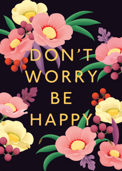 Don't Worry Be Happy | Personalised Greeting Card