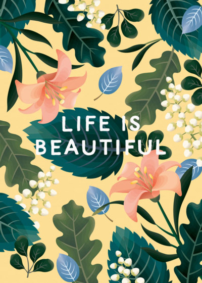 Life Is Beautiful | Personalised Greeting Card