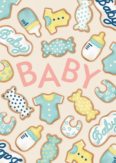 Baby Biscuits | Personalised Congratulations Card