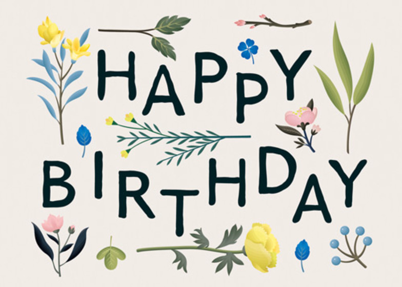Birthday Plant Variety | Personalised Birthday Card