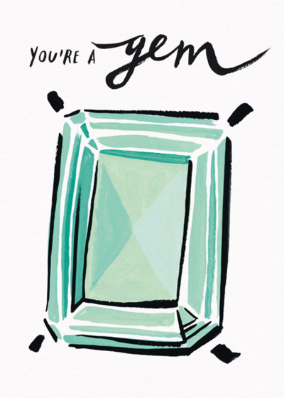 You're A Gem | Personalised Greeting Card