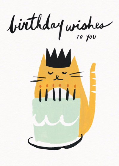Kitty Wishes | Personalised Birthday Card
