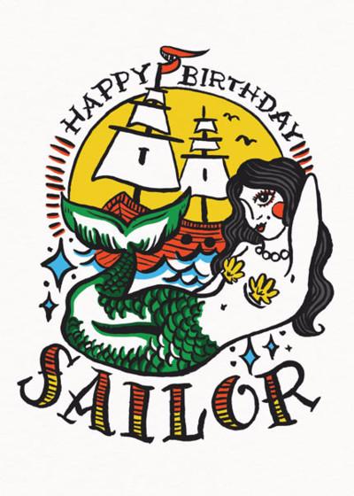 Sailor Birthday   Personalised Birthday Card