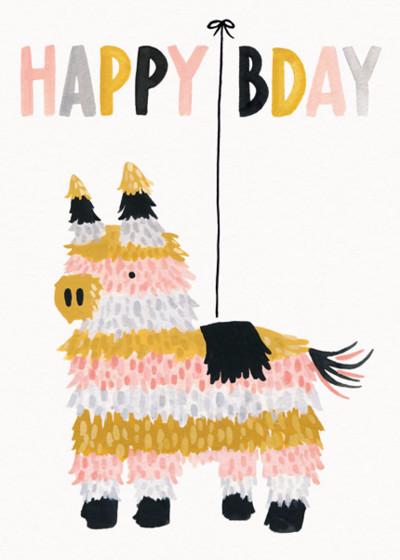 Birthday Piñata | Personalised Birthday Card