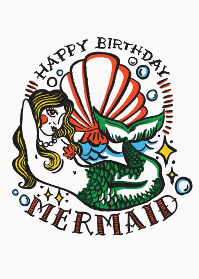 Birthday Mermaid | Personalised Birthday Card