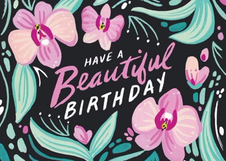 Orchids | Personalised Birthday Card