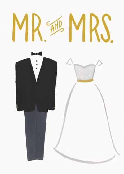 Bride And Groom | Personalised Congratulations Card
