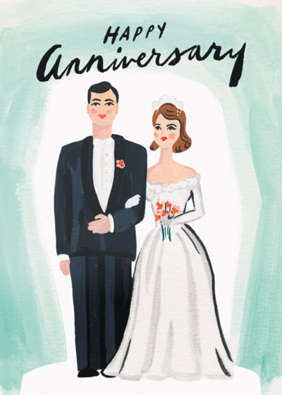 Vintage Anniversary | Personalised Greeting Card