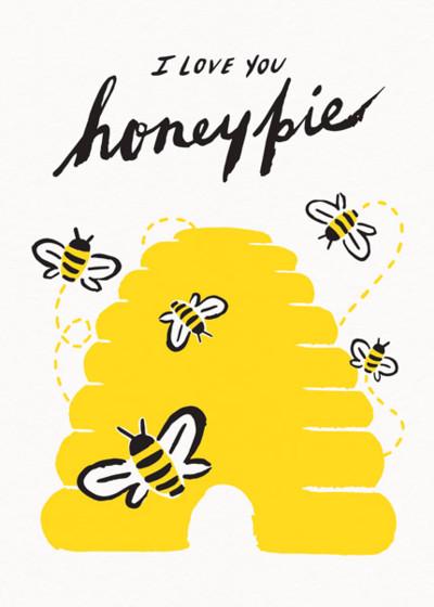 Honey Pie | Personalised Greeting Card